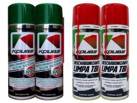 Kit Com 2 Descarbonizante K90 + 2 Limpa Tbi Koube