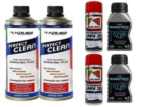 Kit Com 2 Perfect Clean + 2 Limpa Tbi Koube + 2 Nanotech 1000
