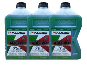 Kit Com 3 Litros De Aditivo Koube Plus Flex Diesel Verde