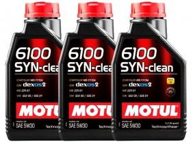 KIT COM 3 LITROS DE ÓLEO MOTUL 6100 SYN-CLEAN 5W30 SINTÉTICO