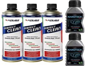 Kit Com 3 Perfect Clean + 2 Condicionador de Metais Nanotech