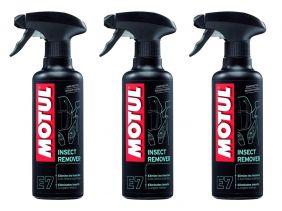 Kit Com 3 Un. Removedor Motul Insect Remover E7 Spray 400ml