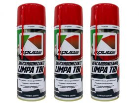 Kit Com 3 Unidades Descarbonizante Limpa Tbi Koube 300 ml