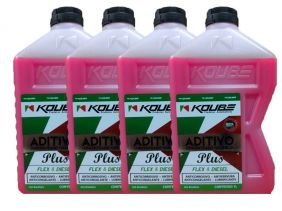 Kit Com 4 Litros De Aditivo Koube Plus Flex Diesel Rosa
