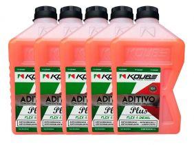 Kit Com 5 Litros De Aditivo Koube Plus Flex Diesel Laranja