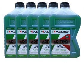 Kit Com 5 Litros De Aditivo Koube Plus Flex Diesel Verde