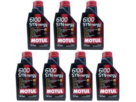 Kit Com 7 Litros De Óleo Sintético Motul 6100 Syn-nergy 5w40