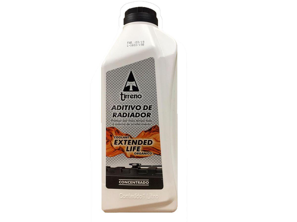 3 Aditivo De Radiador Tirreno Concentrado Orgânico Coolant Extended Life Laranja + 3 Água Desmineralizada