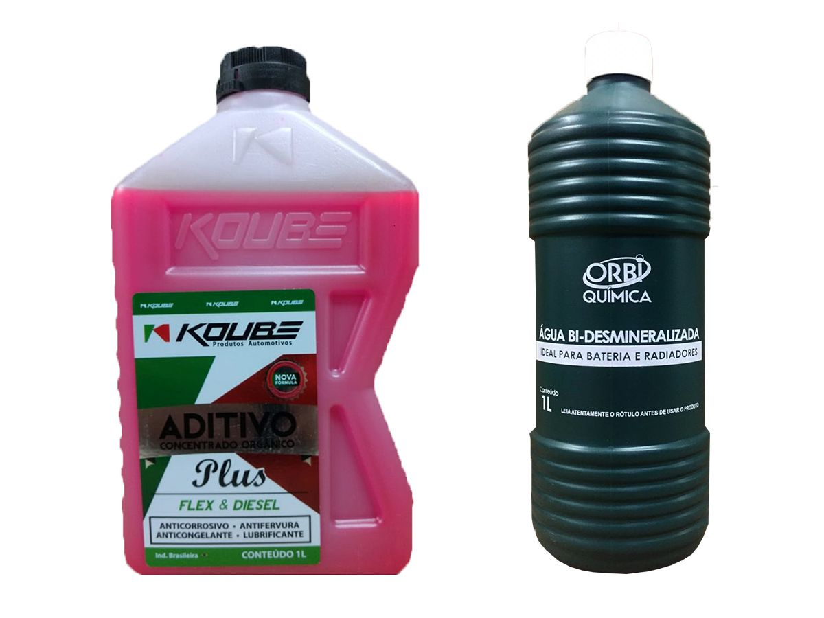 Aditivo Concentrado Koube Plus Rosa + Água Desmineralizada
