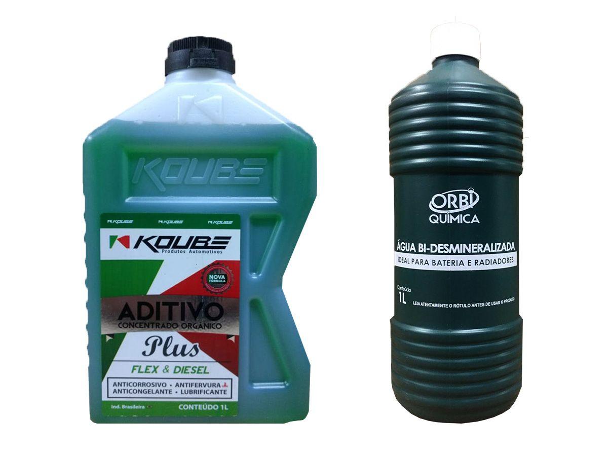 Aditivo Para Radiador Concentrado Koube Plus Verde + Água Desmineralizada