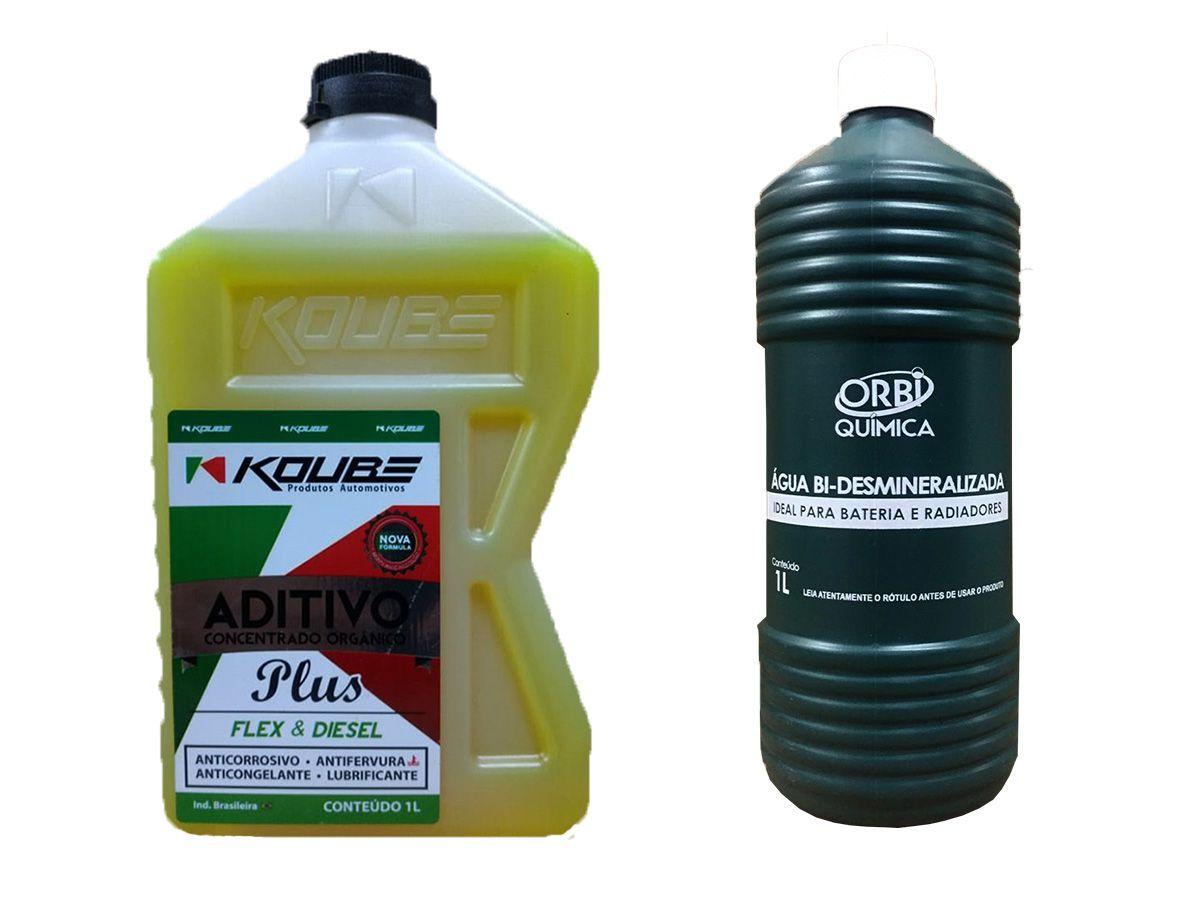 Aditivo Para Radiador Concentrado Koube Plus Amarelo Água Desmineralizada