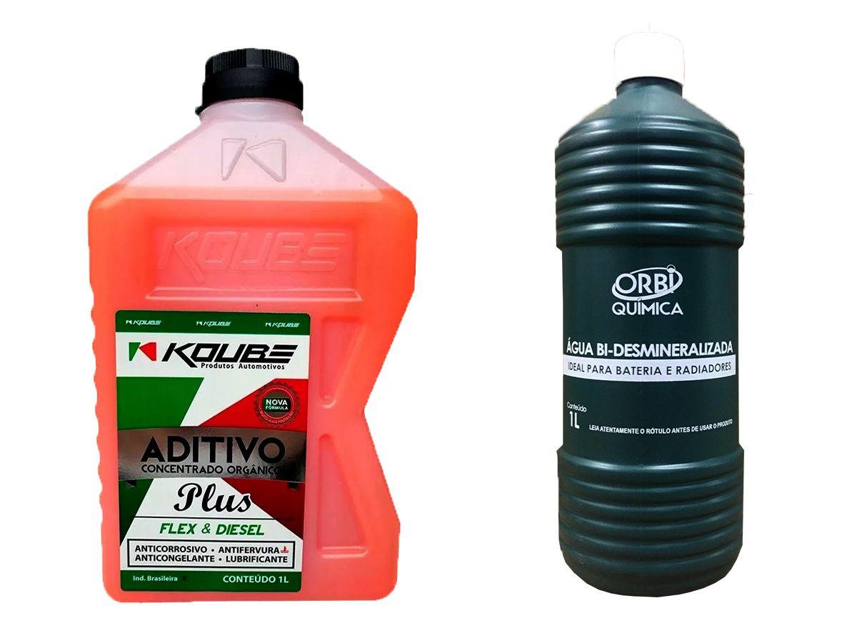 Aditivo Para Radiador Concentrado Koube Plus Laranja + Água Desmineralizada