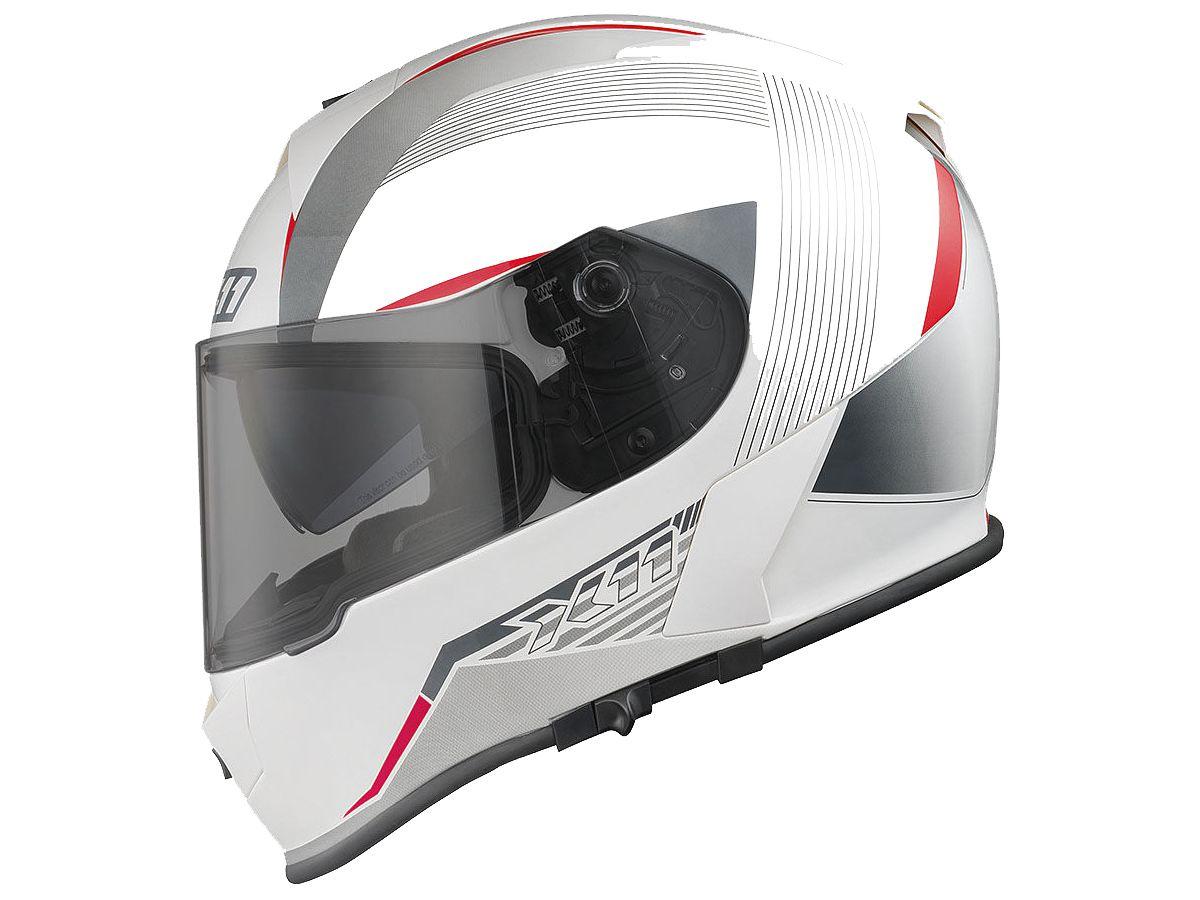 CAPACETE X11 REVO SV BRANCO/VERMELHO