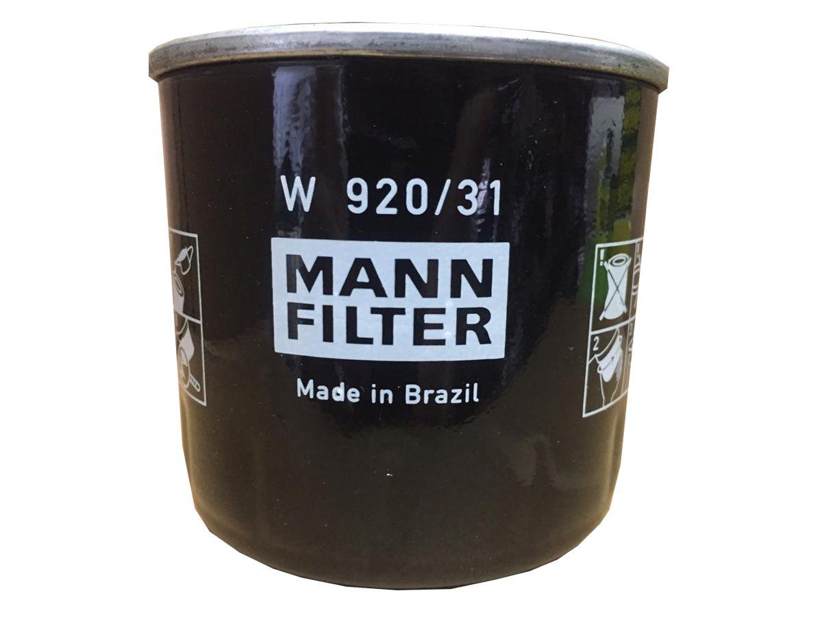 FILTRO ÓLEO LUBRIFICANTE - W920/31 MANN BLINDADO