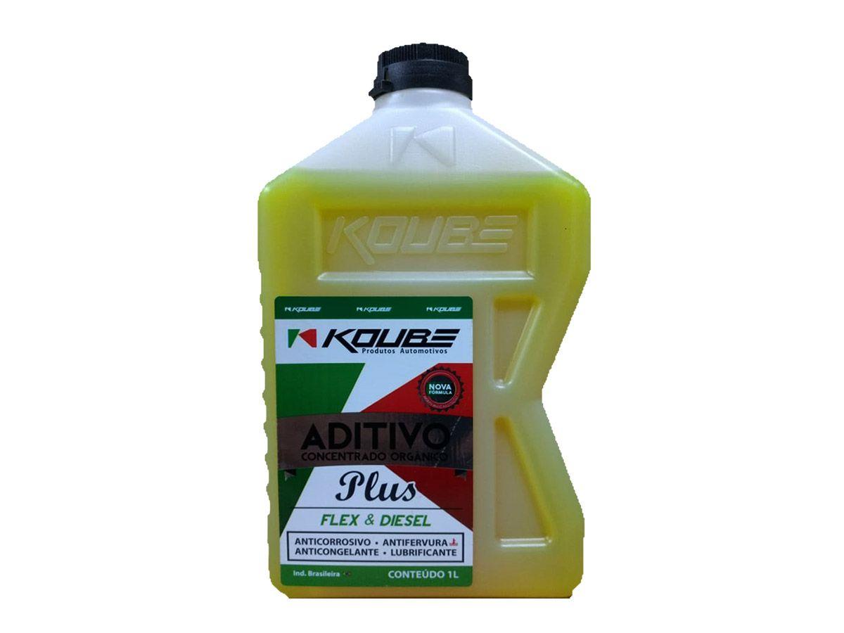 4 Aditivo Para Radiador Concentrado Koube Plus Amarelo + 4 Água Desmineralizada