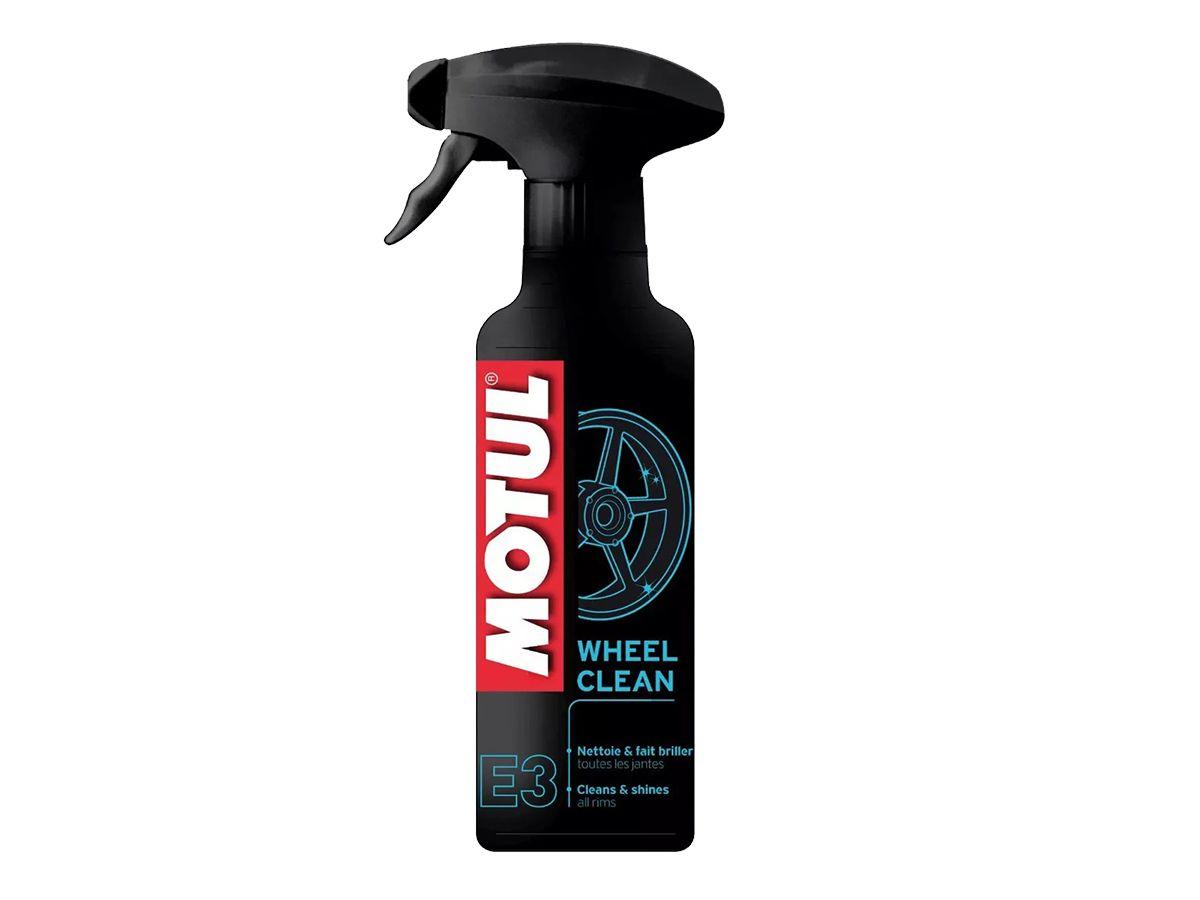 Kit C/ 3 Un. Motul E3 Wheel Clean Limpeza De Roda Moto 400ml