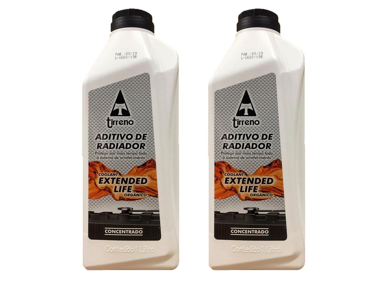Kit C/ 2 Litros Aditivo Radiador Concentrado Tirreno Laranja