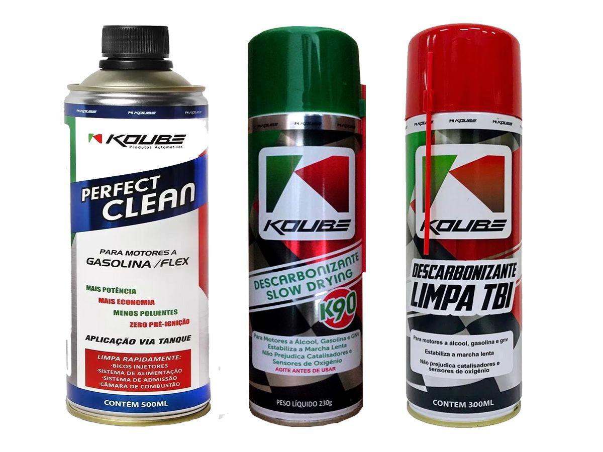 Kit Com 1 Perfect Clean + 1 K90 Koube + 1 Limpa Tbi Koube