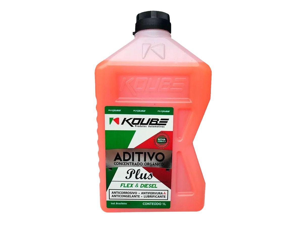 Kit Com 2 Litros De Aditivo Koube Plus Flex Diesel Laranja