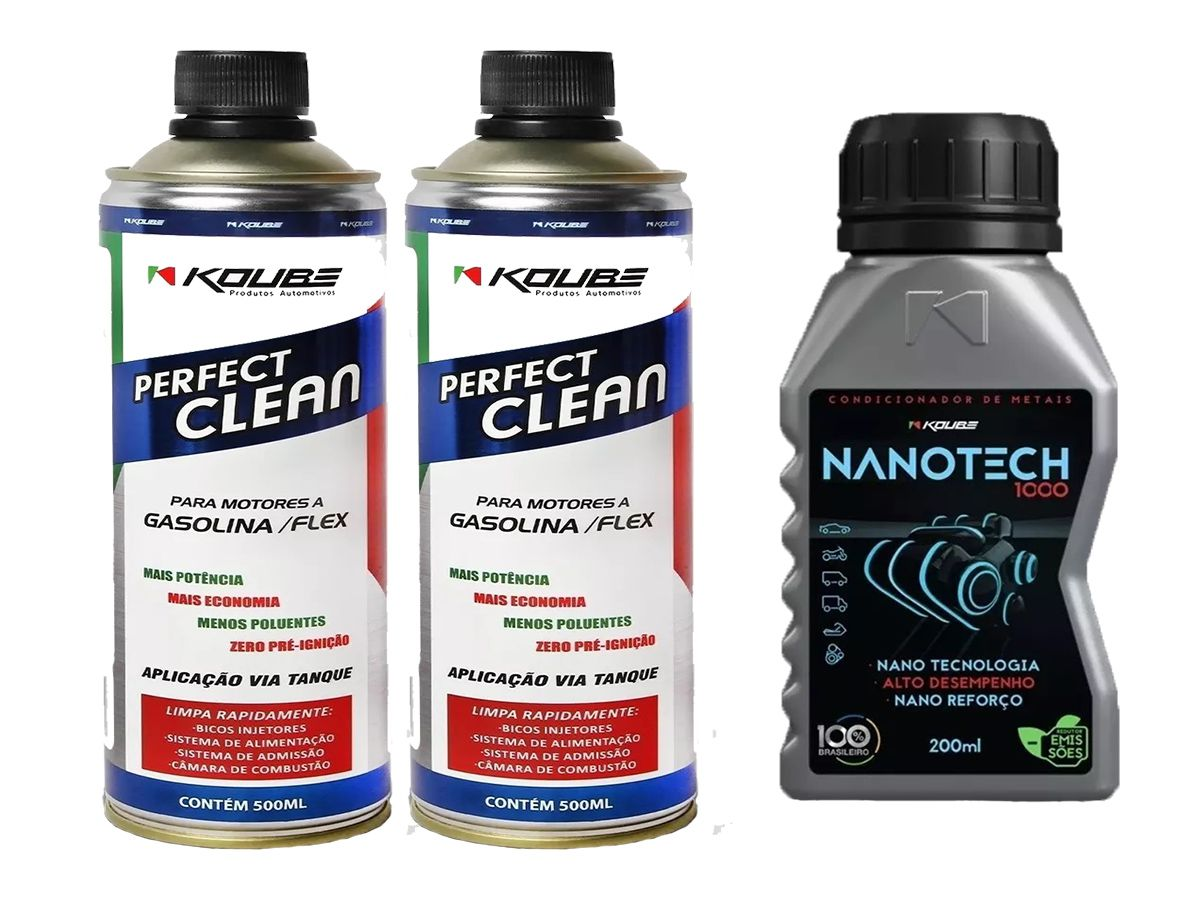 Kit Com 2 Perfect Clean + 1 Condicionador de Metais Nanotech