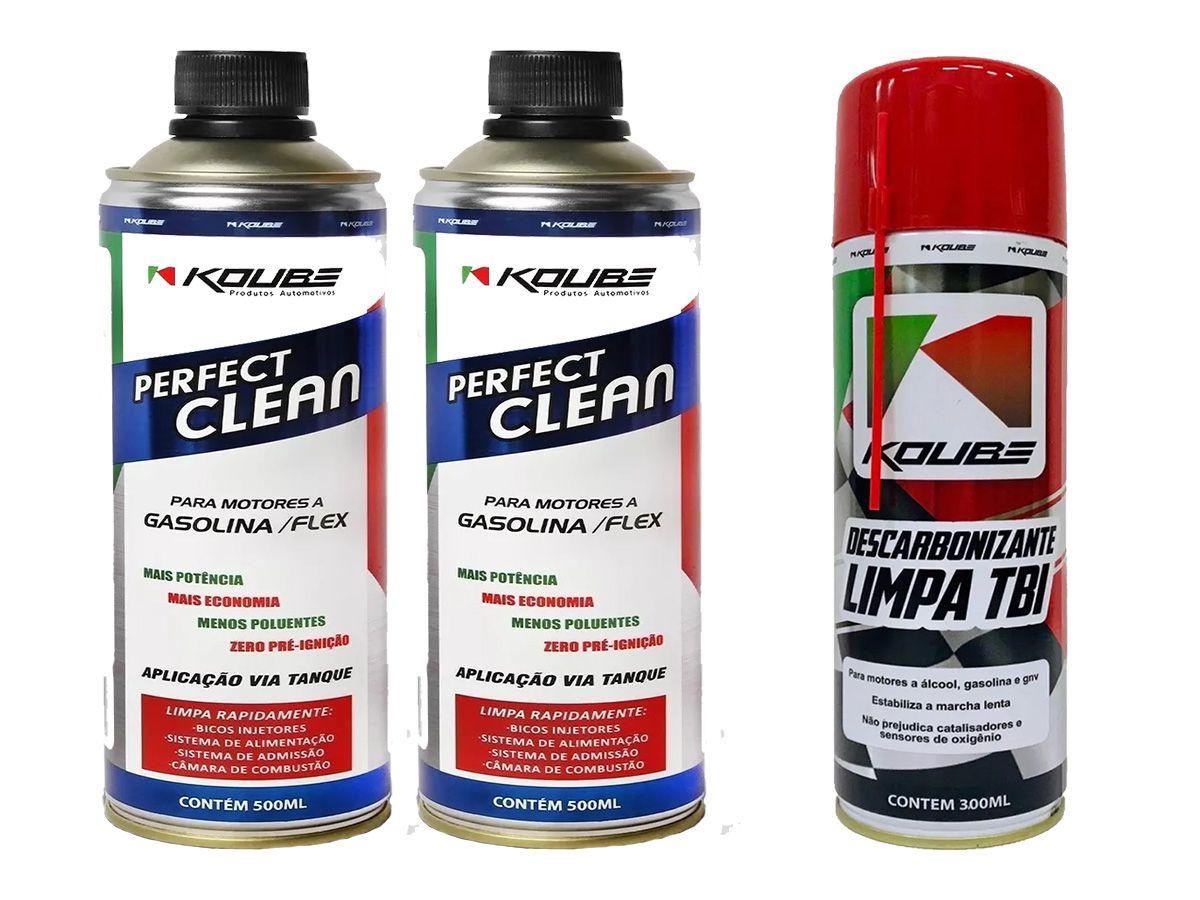 Kit Com 2 Perfect Clean + 1 Limpa Tbi Koube 300ml