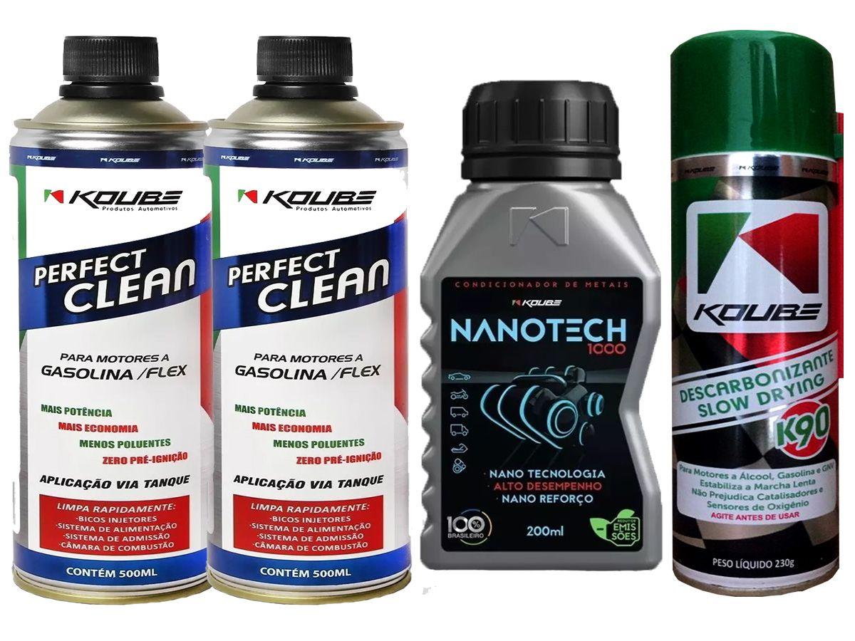 Kit Com 2 Perfect Clean + 1 Nanotech 1000 + 1 K90 Koube