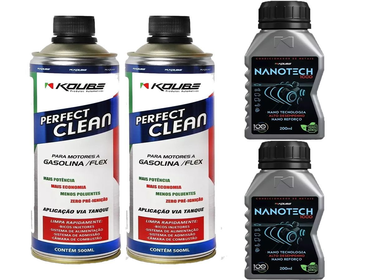 Kit Com 2 Perfect Clean + 2 Condicionador De Metais Nanotech
