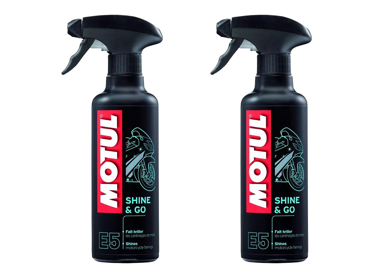 Kit Com 2 Un. De Motul Mc Care E5 Shine & Go Spray 400ml