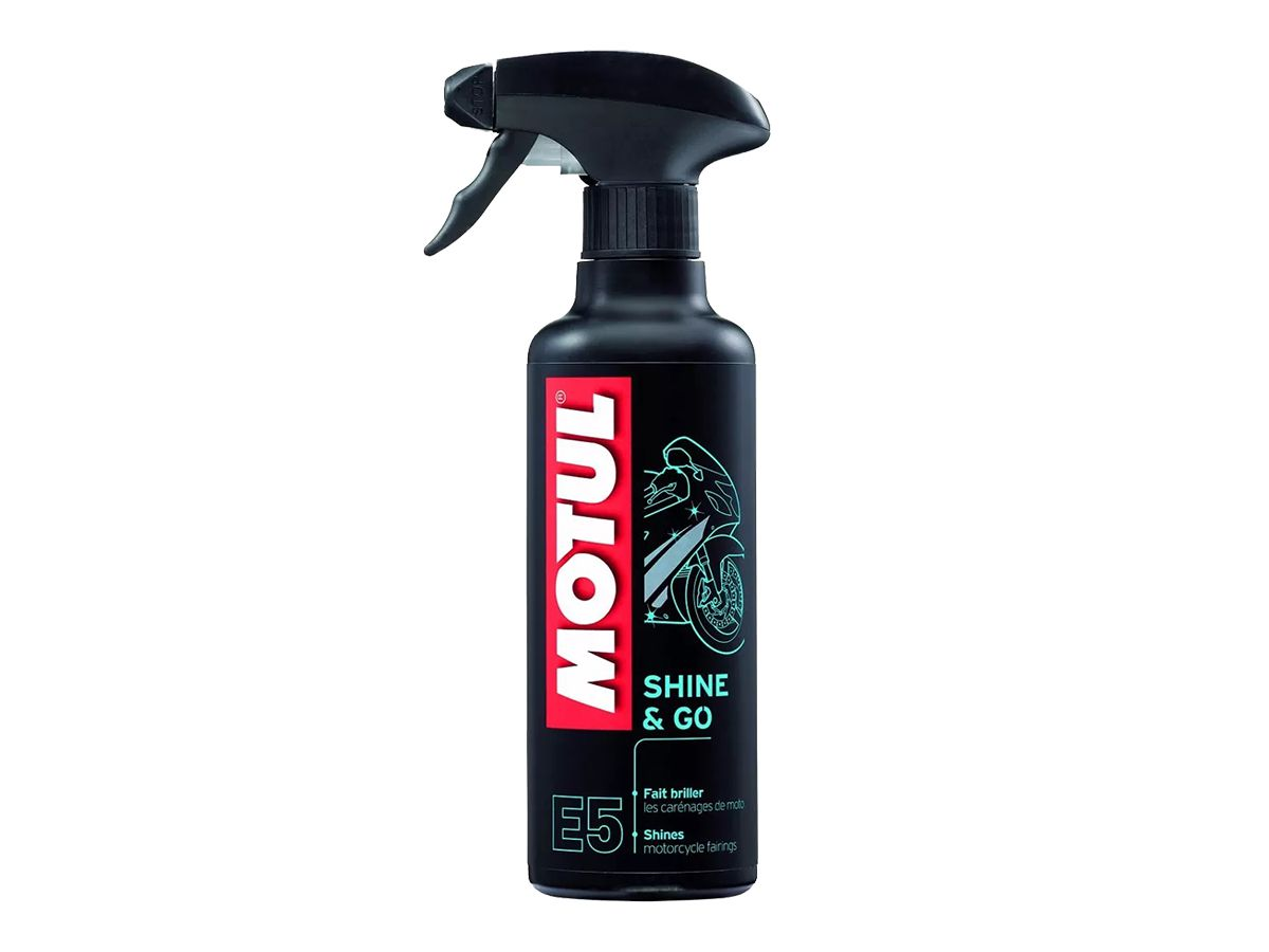 Kit Com 3 Un. De Motul Mc Care E5 Shine & Go Spray 400ml