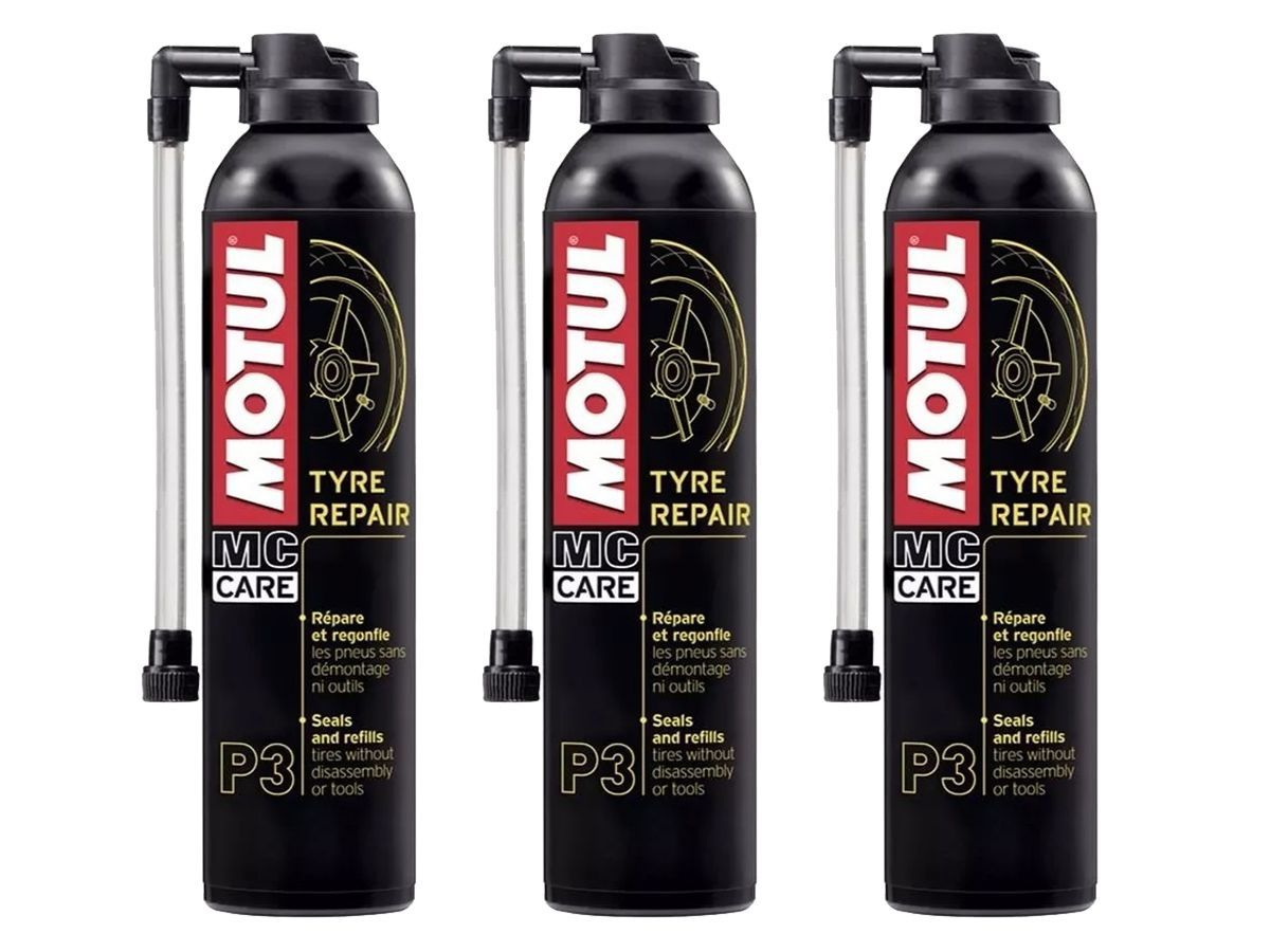 Kit Com 3 Un. Motul Mc Care P3 Tyre Repair-Pneu Furado 300ml