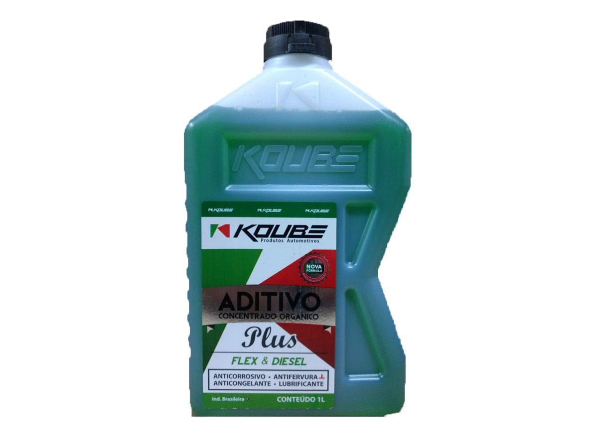 Kit Com 4 Litros De Aditivo Koube Plus Flex Diesel Verde