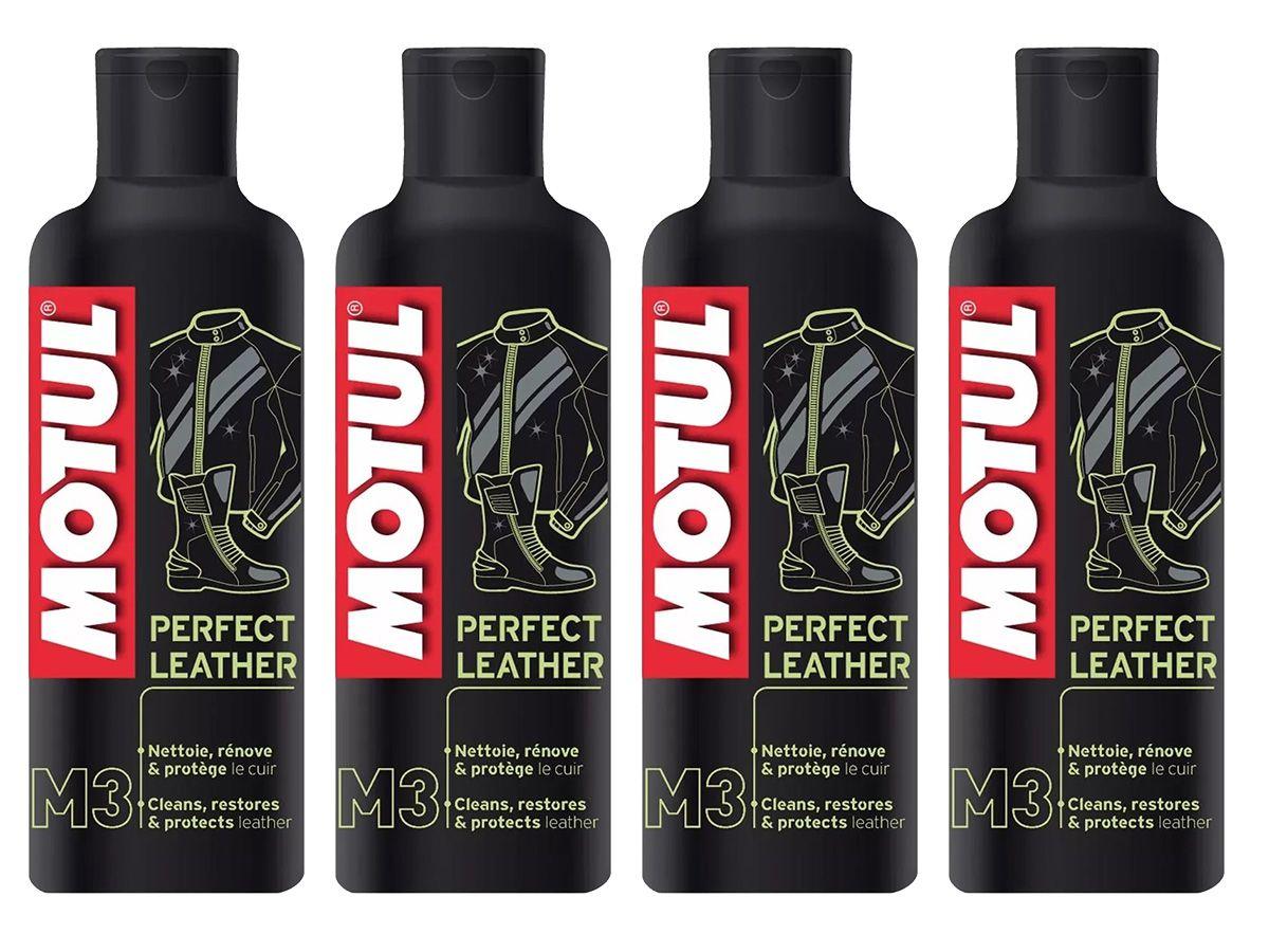 Kit Com 4 Motul M3 Perfect Leather Limpeza De Couros 250ml