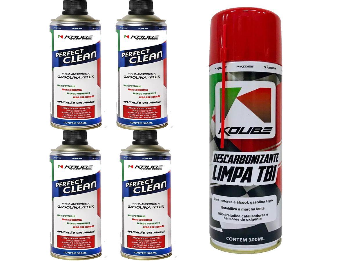 Kit Com 4 Perfect Clean + 1 Limpa Tbi Koube 300ml