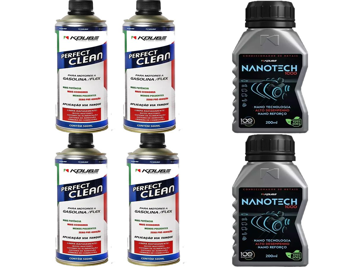 Kit Com 4 Perfect Clean + 2 Condicionador de Metais Nanotech