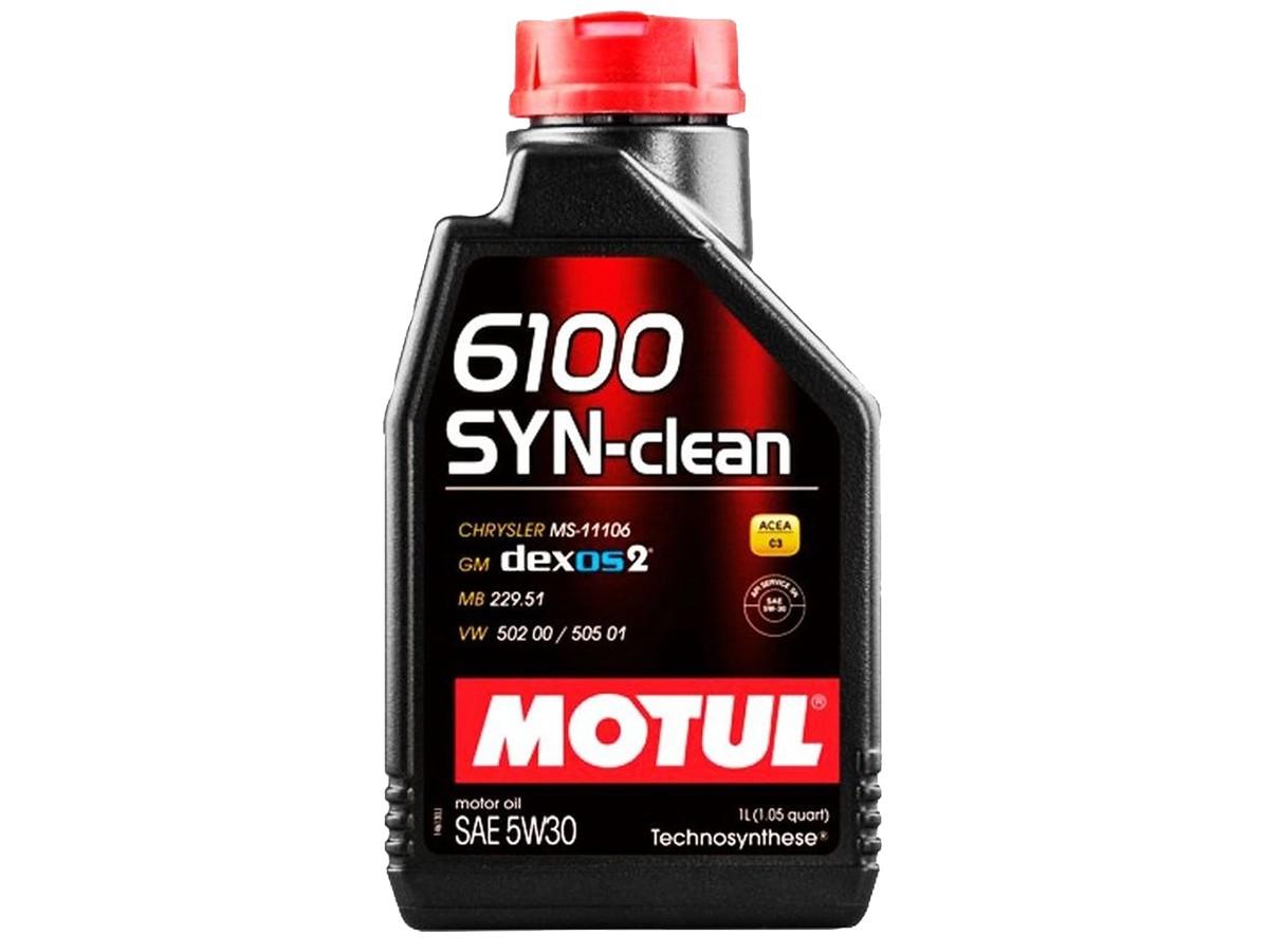 KIT COM 5 LITROS DE ÓLEO MOTUL 6100 SYN-CLEAN 5W30 SINTÉTICO