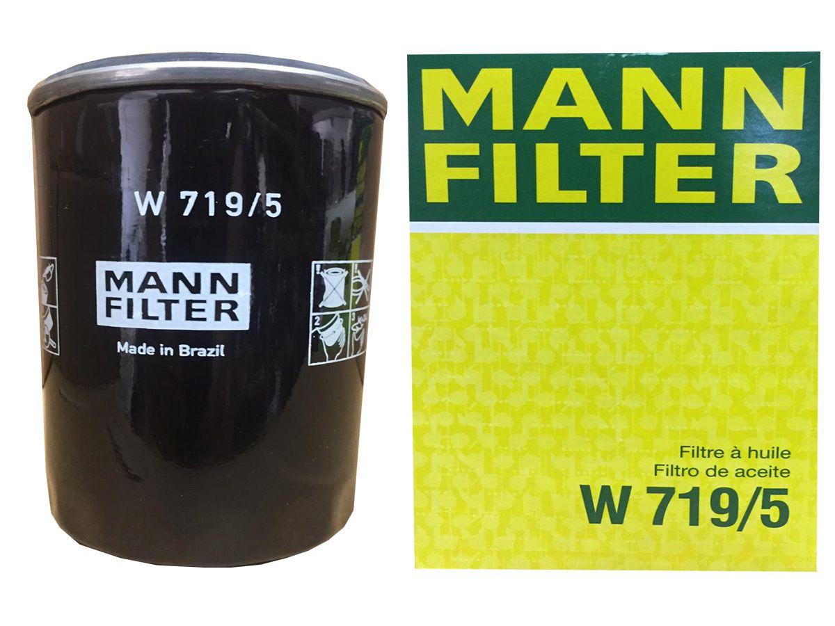 Kit Com 5 Litros De Óleo Sintético Motul 6100 Syn-nergy 5w40 + Filtro Mann W719/5