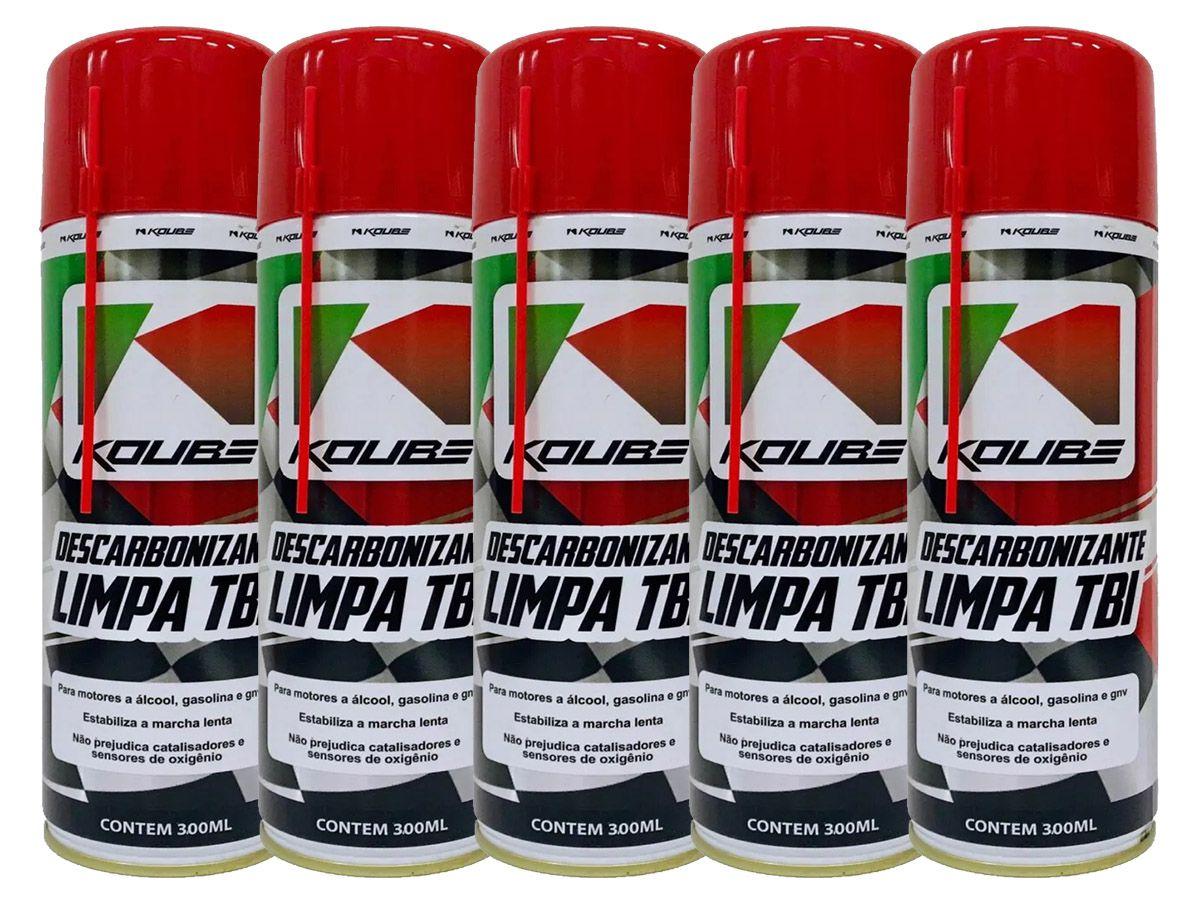 Kit Com 5 Unidades Descarbonizante Limpa Tbi Koube 300 ml