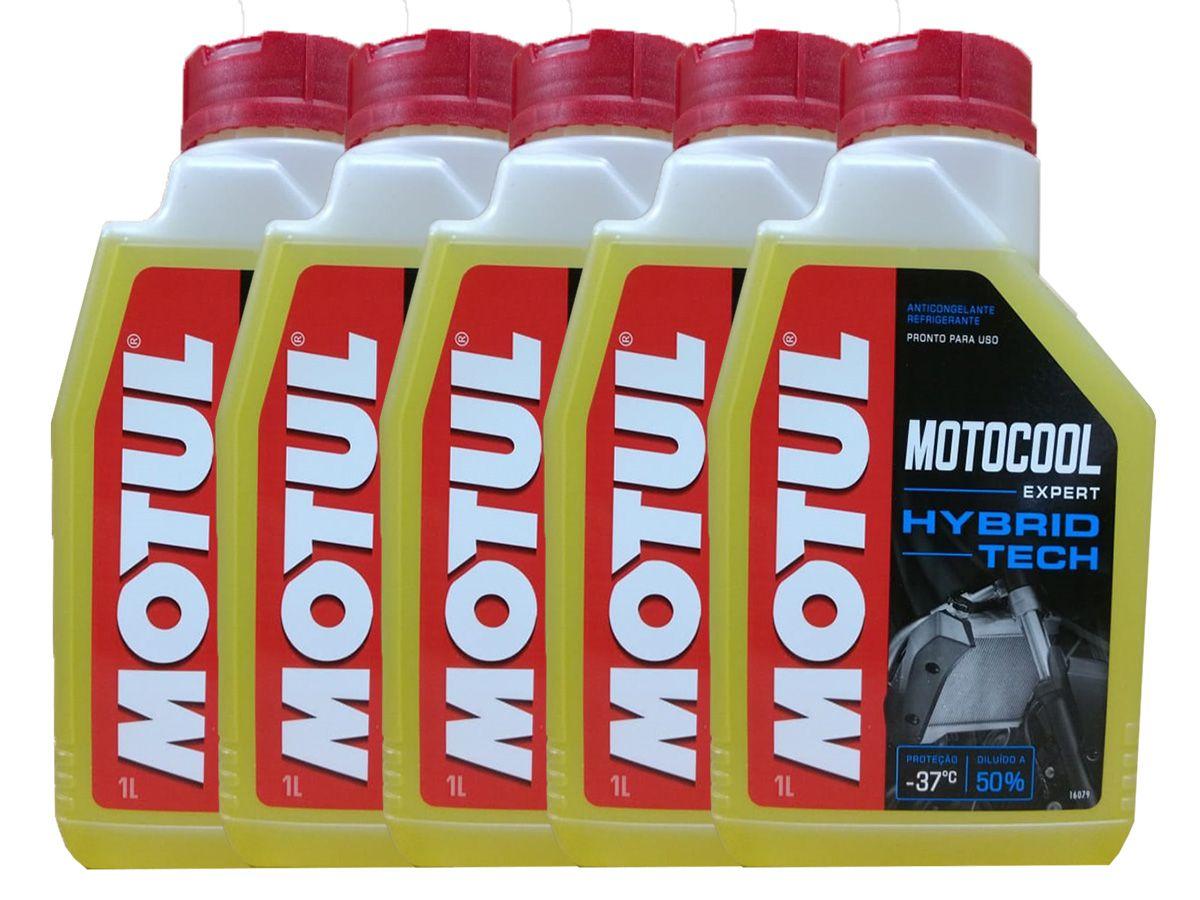 Kit Com 5L Motul Motocool Expert Para Radiadores de Motos