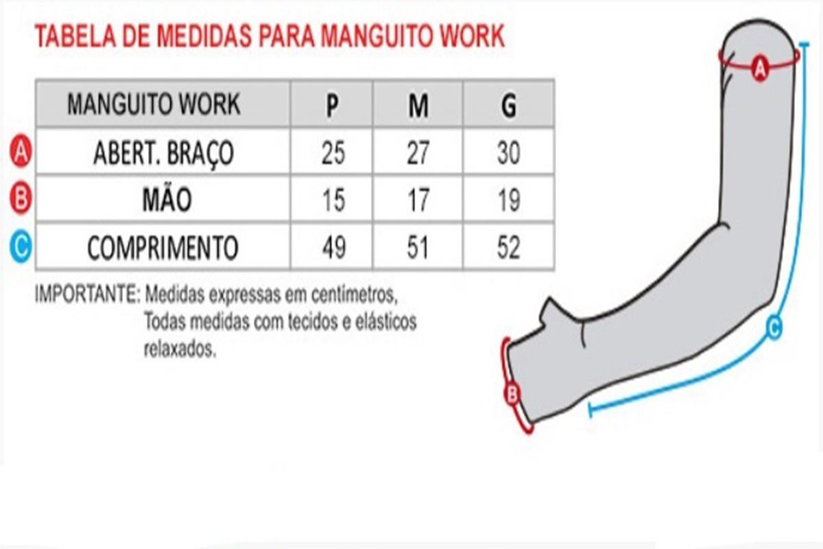 MANGUITO WORK GO AHEAD PRETO UNISSEX