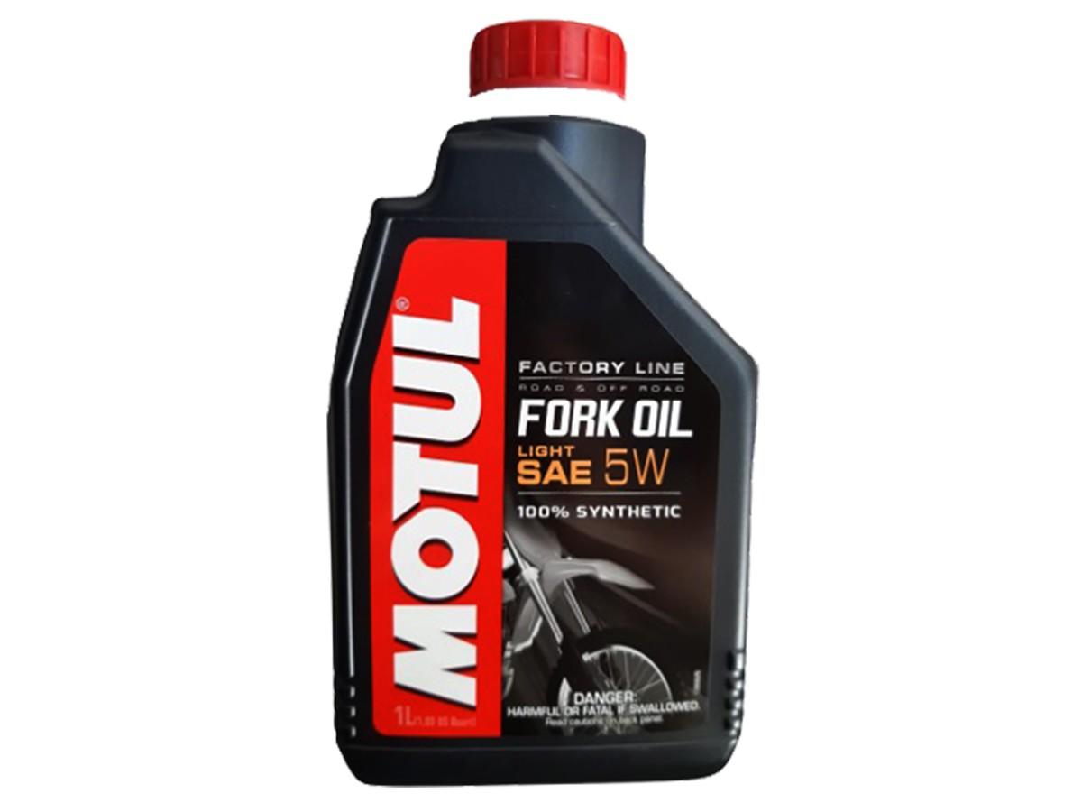 ÓLEO MOTUL FORK OIL FACTORY LIGHT 5W 1L 100% SINTÉTICO