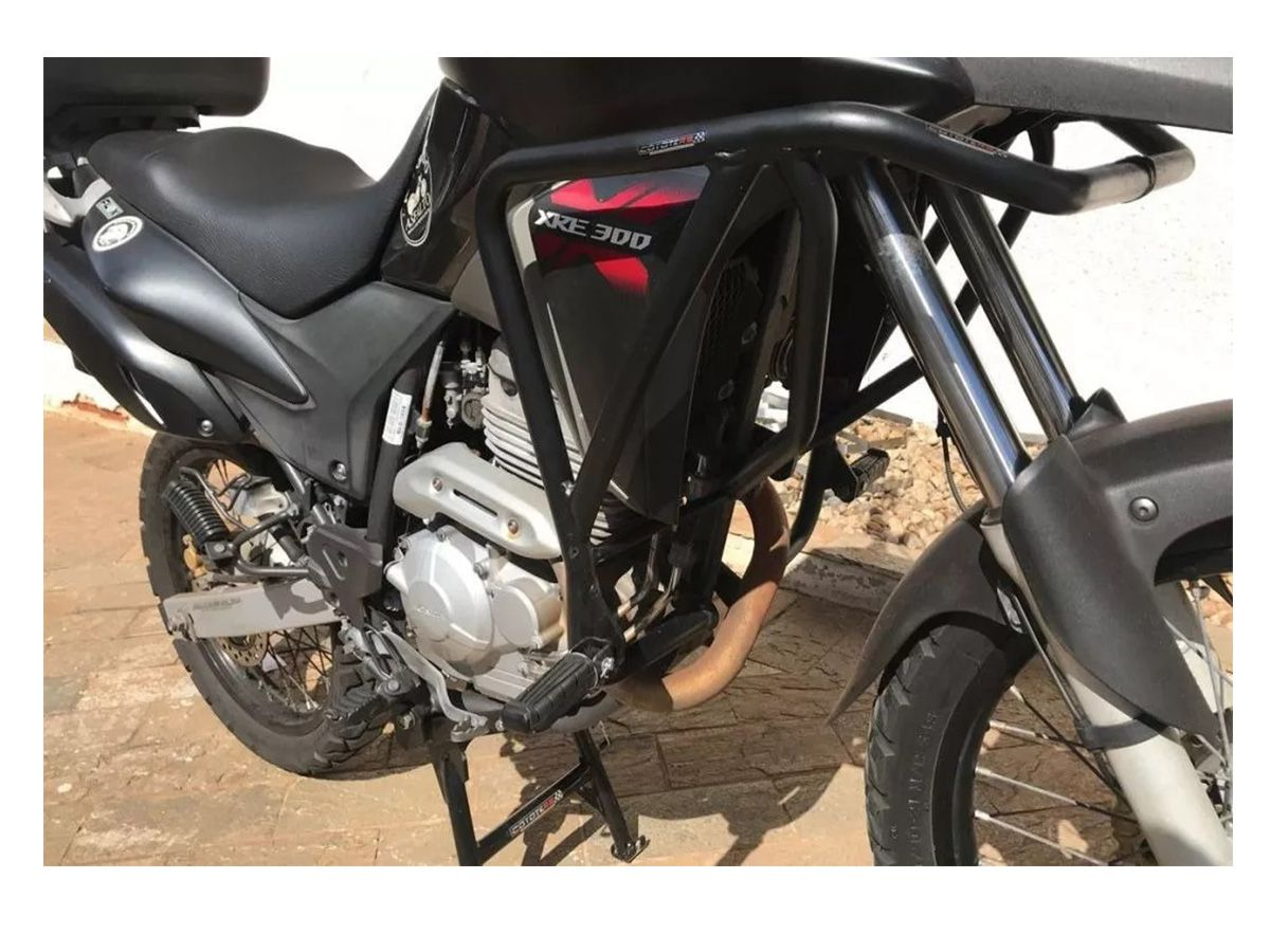 PROTETOR COYOTE DE MOTOR E CARENAGEM COM PEDALEIRAS PRETO XRE 300 2012/2019 - HONDA PM003