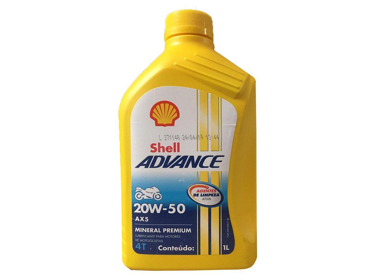 SHELL ADVANCE 4T AX5 20W50 1L