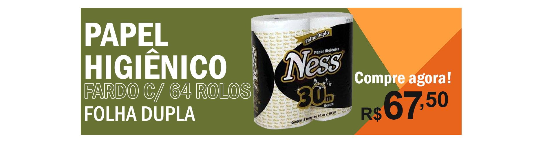 PAPEL HIGIÊNICO NESS FARDO COM 64 ROLOS