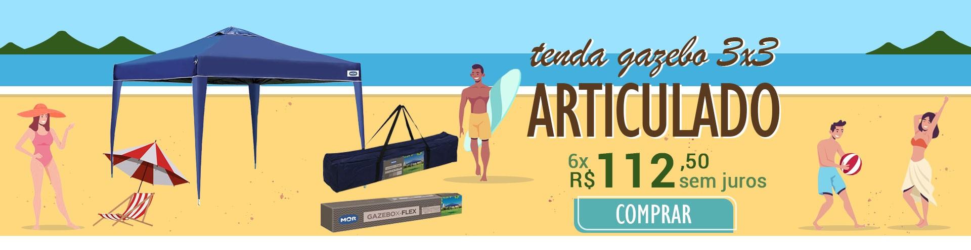 TENDA GAZEBO ARTICULADO 3X3