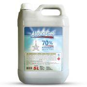Álcool gel limpeza 70% desinfetactante 5 litros Onparis