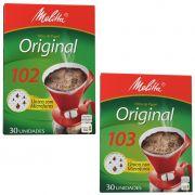 Filtro de papel 102 ou 103 para café Melitta c/30 unidades