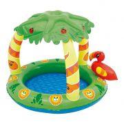 Piscina infantil inflável para bebês 45 litros e parasol MOR