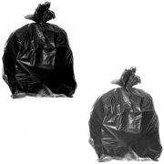 Saco de lixo 40 litros preto multiuso pacote c/100