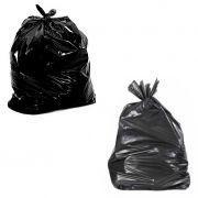 Saco de lixo 100 litros preto multiuso pacote c/100