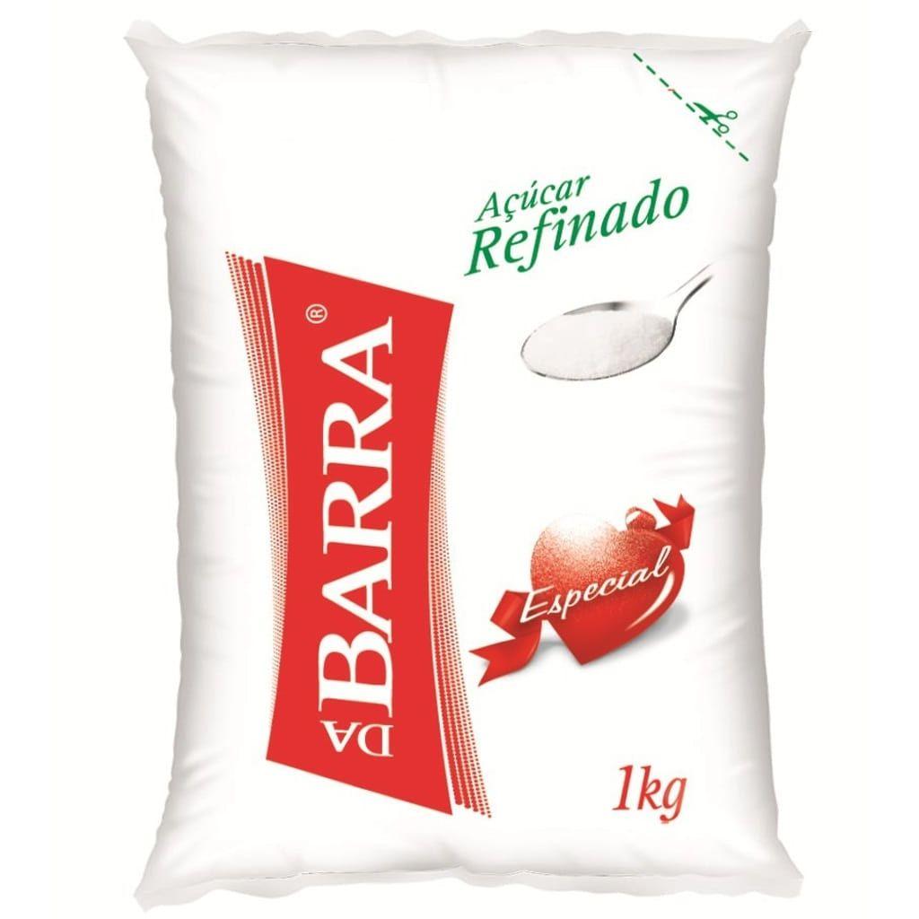 AÇÚCAR 1 KG REFINADO DA BARRA